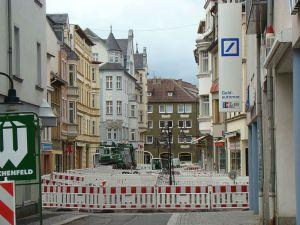 Straßensanierung in Pößneck