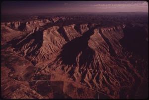Book Cliffs - Ölschiefergestein in West-Colorado, USA