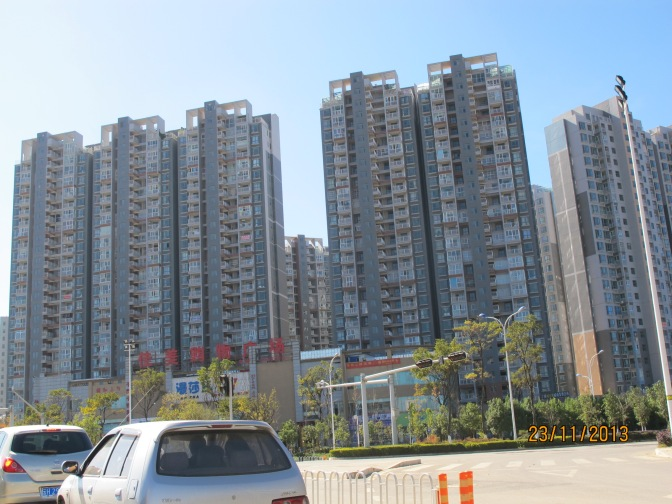 Typisches chinesisches Großstadtquartier
