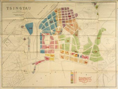 Bodenwertzonen in der deutschen Kolonie Qingdao (Karte zur Verfügung gestellt durch Prof. Dr. W. Matzat)